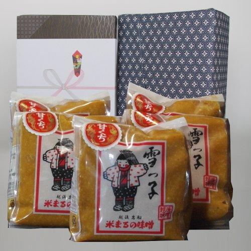 [開店祝いの贈り物・プレゼントに 味噌セット]ギフト 雪っ子 甘口味噌(みそセット)