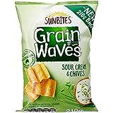 Sunbites Grain Waves Sour Cream & Chives Chips, 12 x 210 Grams