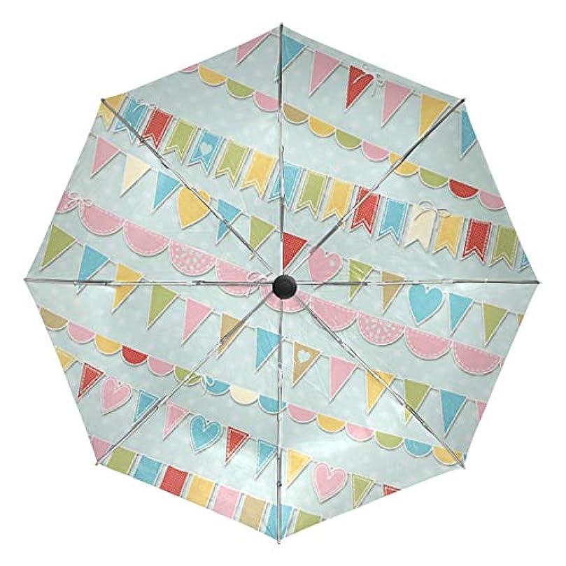 散歩に行く化学薬品病気だと思う傘 自動傘 丈夫 台風対策 雨傘 日傘 カラフル リボンバナー 三つ折り傘 日よけ傘 日焼け止め 折りたたみ傘 UVカット 紫外線カット 自動開閉 晴雨兼用 梅雨対策