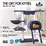 BEASTIE Cat Tree Scratching Post Scratcher Tower Condo House Furniture Wood 97cm (Grey)