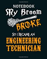 Notebook: engineering technician - 50 sheets, 100 pages - 8 x 10 inches