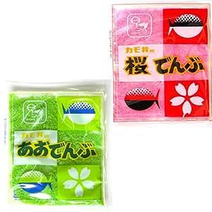カモ井 桜でんぶ&あおでんぶセット 各5袋入り ちらし寿司、キャラ弁の彩りに