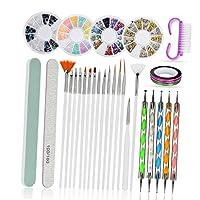 Baosity ネイルアートセット ネイルアートペン ネイルファイル ネイルブラシ DIY テープ サロン 家庭用