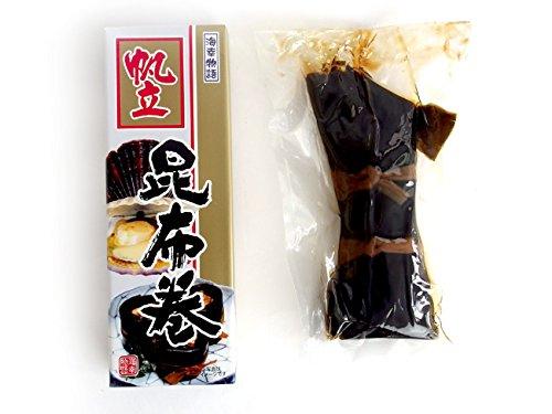 帆立昆布巻 150g (中箱) 北海道コンブで仕上げたほたてをこんぶ巻に致しました。ホタテはタウリンたっぷり!お正月のおせち料理にはもちろんのこと、ご贈答用にも人気の味わいをご家庭でどうぞ。