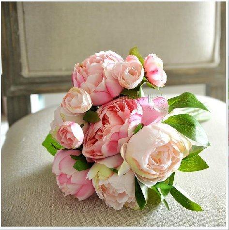 (ウエディングランド)WEDDINGLAND フレンチローズ ピンク ブーケ ウェディング 結婚式 小物