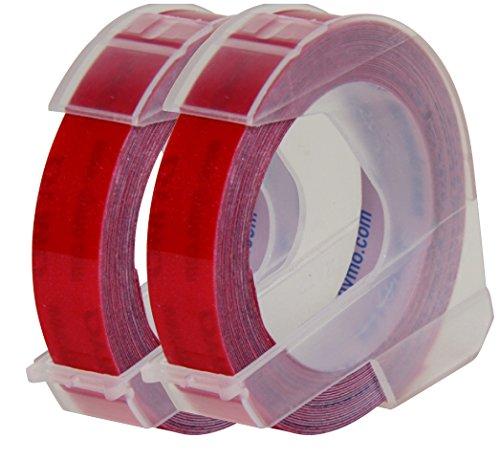 テープ 幅9mm 長さ3m つやあり メタリックレッド 2巻 DM0903MRD2