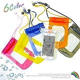 防水ケース スマホケース 携帯ケース 防水バッグ ぬれても大丈夫な防水のビニールバック 海やプールにお風呂にOK (青, フリーサイズ)