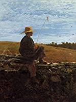 ¥5K-200k 手書き-キャンバスの油絵 - 美術大学の先生直筆 - On Guard 現実主義 painter Winslow Homer 絵画 洋画 複製画 ウォールアートデコレーション -サイズ10