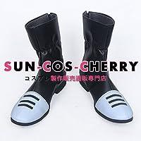 【サイズ選択可】コスプレ靴 ブーツ Z4-0237 ブラッククローバー アスタ Asta 男性25.5CM