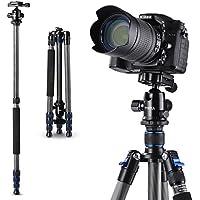 Tycka 三脚 カメラ三脚 カーボンファイバー製 超軽量 1.42kg 4段 全高1650mm 8kg耐荷重 デジタルカメラ 一眼レフカメラ Canon Nikon Petax Sonyなど用