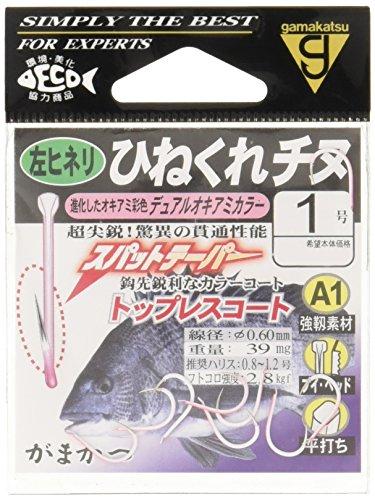がまかつ(Gamakatsu) A1 ヒネクレチヌ フック(左ヒネリ) 1号 釣り針