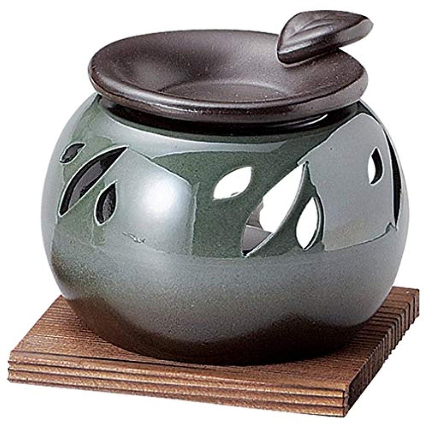 地域のスケッチスキー常滑焼 G1708 茶香炉  径10.5×高さ12cm