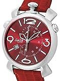 [ガガミラノ]GaGa MILANO 腕時計 THINCHRONO46MM レッド文字盤 クロノグラフ スイスメイド 5097.04RD メンズ 【並行輸入品】