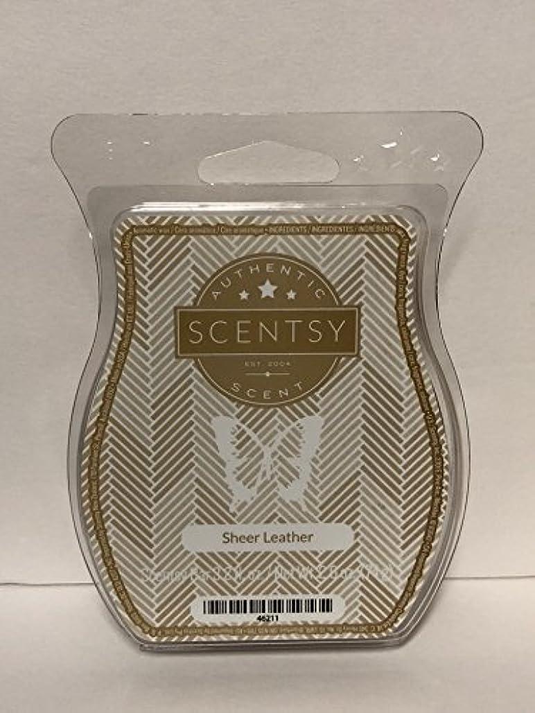 コードレス裁判官リーダーシップSheer Leather Scentsy Wickless Candle Tart Wax 90ml, 8 Squares