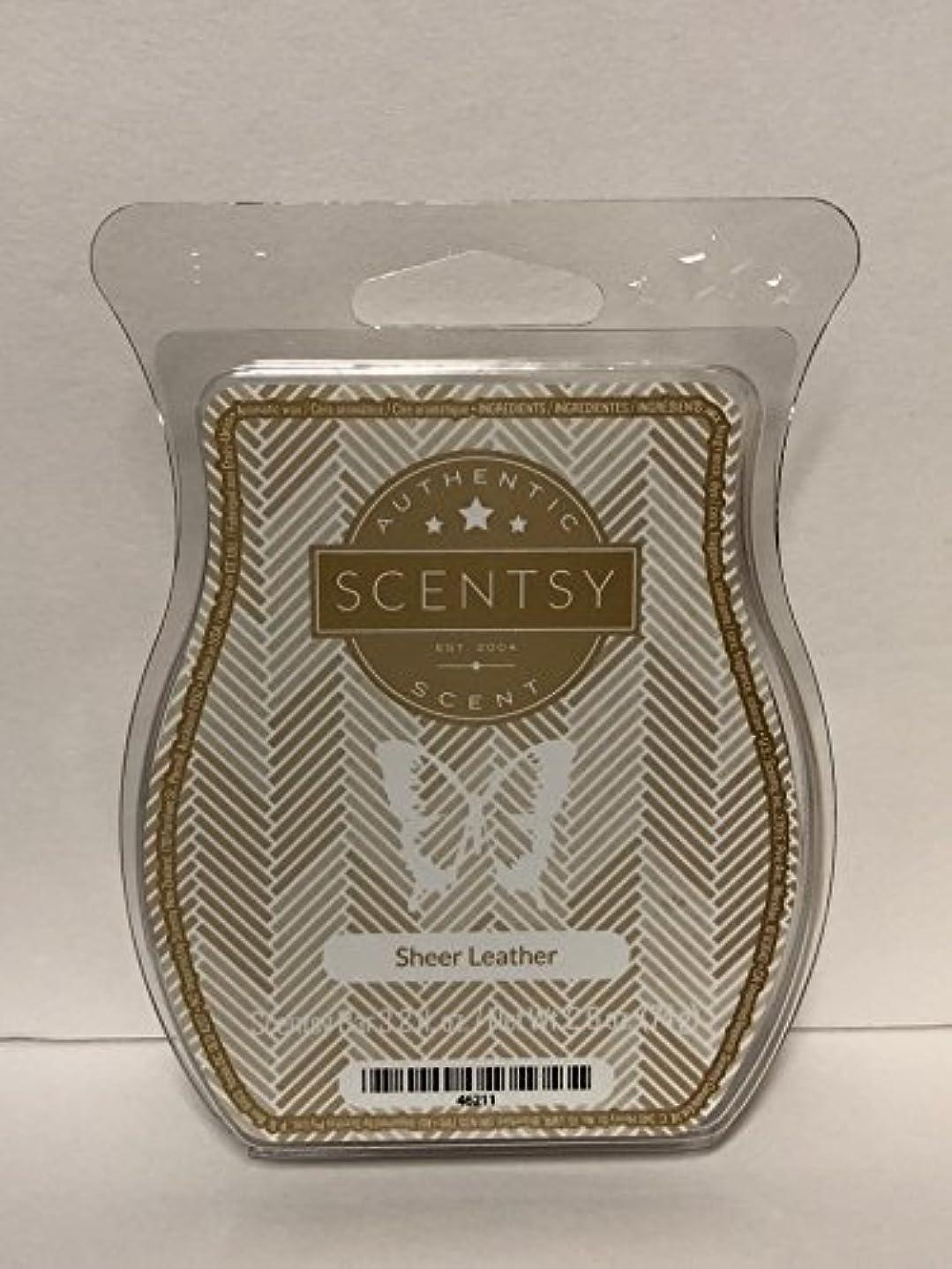 ジェスチャースイングママSheer Leather Scentsy Wickless Candle Tart Wax 90ml, 8 Squares