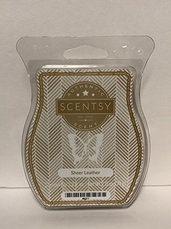 例示する移動する証書Sheer Leather Scentsy Wickless Candle Tart Wax 90ml, 8 Squares