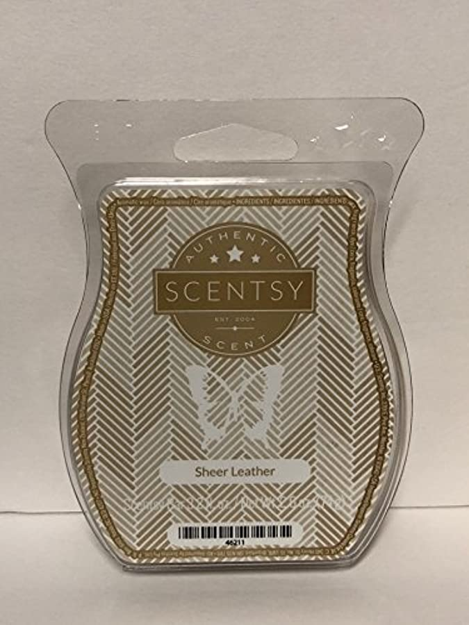 乱用独裁者もっとSheer Leather Scentsy Wickless Candle Tart Wax 90ml, 8 Squares