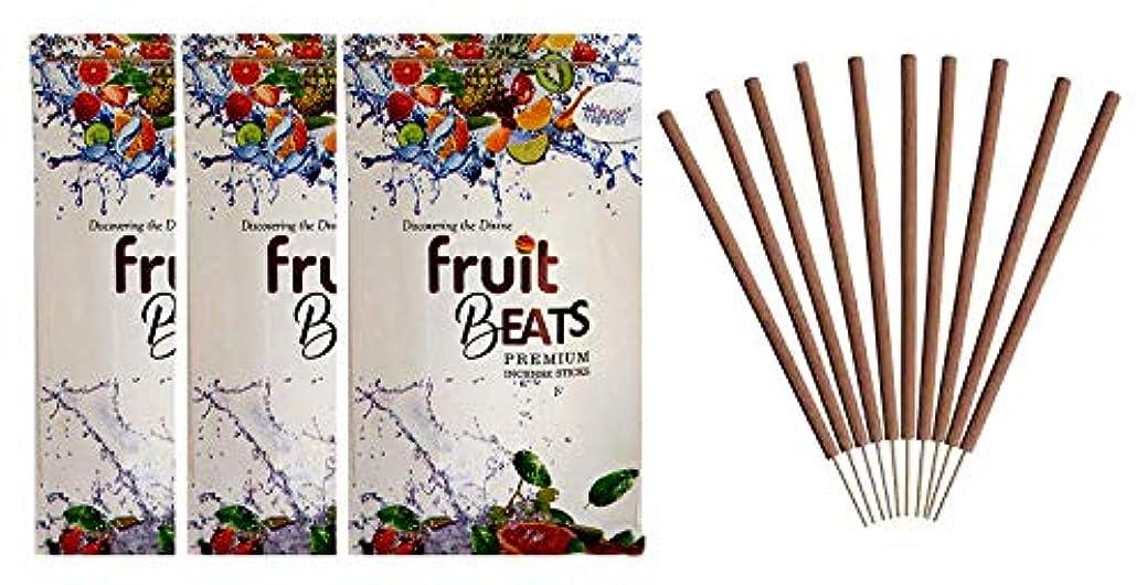 機転アノイ見物人FLOURISH FRAGRANCE Fruit Beats Incense Sticks Pack of 3 (140 Gm Each)