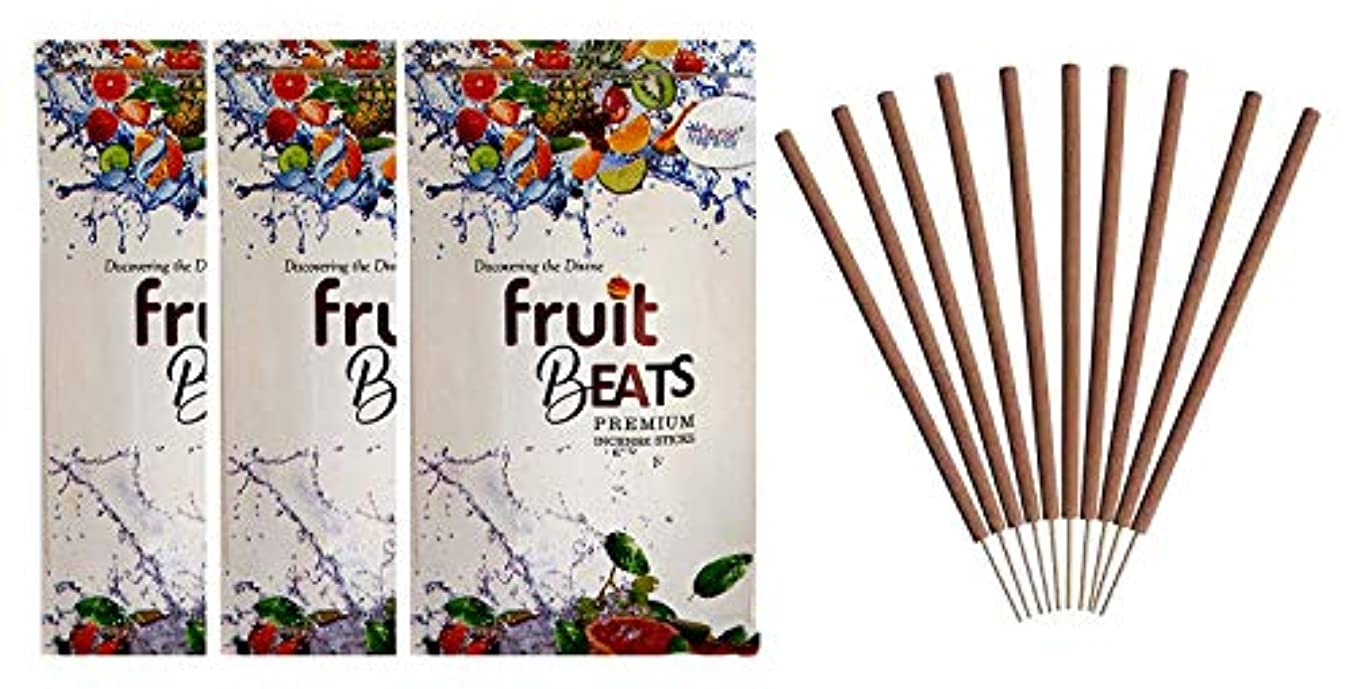 に渡って人柄流すFLOURISH FRAGRANCE Fruit Beats Incense Sticks Pack of 3 (140 Gm Each)