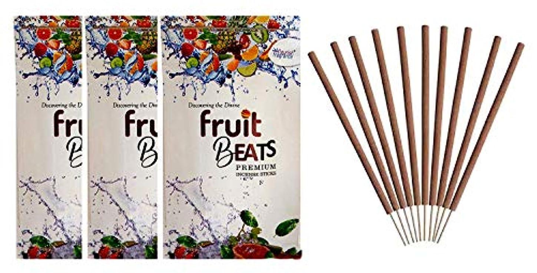 トラブル判決ボイラーFLOURISH FRAGRANCE Fruit Beats Incense Sticks Pack of 3 (140 Gm Each)