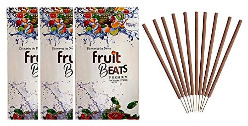 つらい南方の製作FLOURISH FRAGRANCE Fruit Beats Incense Sticks Pack of 3 (140 Gm Each)