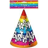 RimiハンガーファンキーHappy Birthday Party Hats 8個パックユニセックスパーティー装飾アクセサリー帽子 One Size (Pack of 8) 2259#US