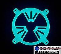 80mm UVグリーンNuclear Radiation PCファングリルforカスタムPC Modding