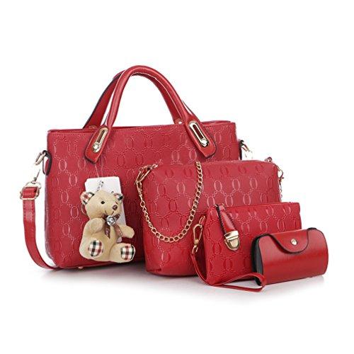 Pahajim Women Bag Top-Handle Bags 2017 Fashion Women Messenger Bags Handbag 4 piece Set