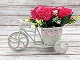 造花 インテリア フラワー 薔薇 自転車 観葉植物 フェイクグリーン 置物 光触媒加工 結婚祝い ピンク