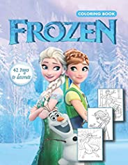 Frozen Coloring Book: Coloring Book for Kids Ages 3-7, Frozen Coloring Book for girls (Unofficial)