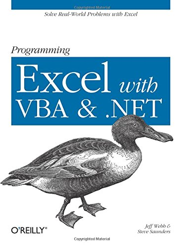 Download Programming Excel with VBA and .NET: Solve Real-World Problems with Excel 0596007663
