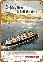 なまけ者雑貨屋 アメリカン 雑貨 ナンバープレート Cunard Ocean Liners ヴィンテージ風 ライセンスプレート メタルプレート ブリキ 看板 アンティーク レトロ