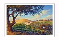 オーク・バレー・ヴィンヤード - ワインカントリーアート によって作成された カーン・エリクソン - アートポスター - 76cm x 112cm