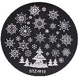 クリスマスネイルスタンプ 雪の花 スタンププレート イメージプレート ネイルスタンプ ジェルネイル ネイルアート ネイルスタンピング 10種から選び (10)