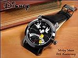 スワロフスキーDisneyミッキー★ジャンピング腕時計★ブラック(F1050195)
