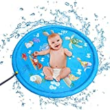 子供 プール プレイマット 水遊びキッズ水振りかけるとスプラッシュプレイパッドマットウォータースプレーのおもちゃキッズベビープールパッド用赤ちゃんと子供 庭 家庭用 (色 : 青, サイズ : 170cm)