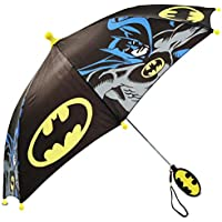 DC Comics boys Little Boys Batman Umbrella, Black/Yellow, Age 3-7 Age 3-7