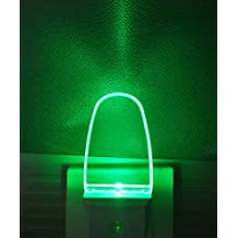 2 Pack LED Night Light Lamp with Dusk to Dawn Light Sensor Color Selection Night Lights(Green)