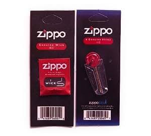 ZIPPO ジッポ ライター ウィック 替え芯(1本入)&着火石 フリント(6石入)セット
