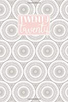2020: A5 Diary Week on 2 Pages to View WO2P Journal | Horizontal Weekly Planner | Grey & Pink Retro Mandala Circles Pattern (2020 Weekly Diaries)