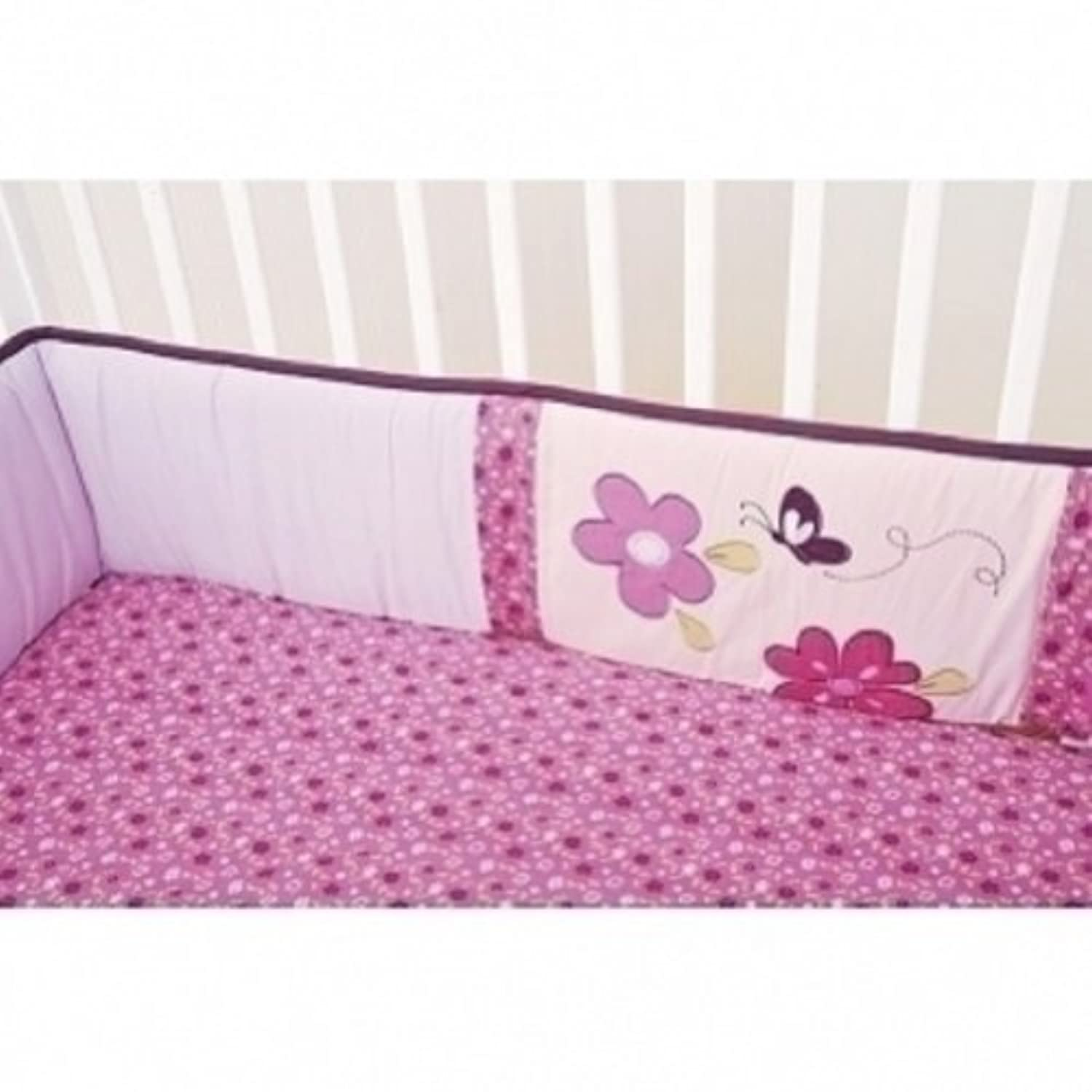 Lil' Kids Plum Blossoms Fitted Crib Sheet - Set of 2 (Pink/Purple) by KidsLine