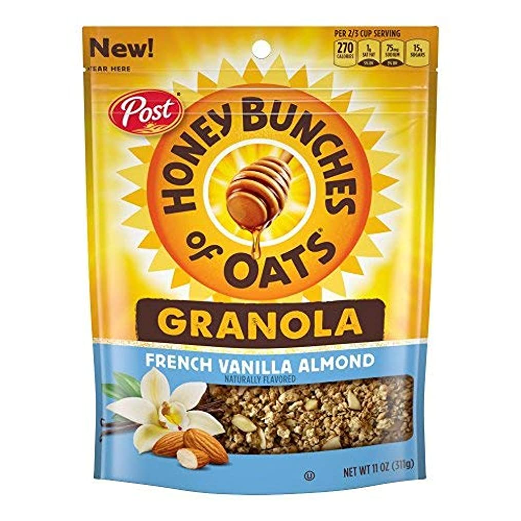 定期的に起点メロドラマPost Honey Bunches of Oats Honey Roasted Granola French Vanilla Almond 11 Ounce 6 Count [並行輸入品]