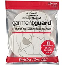 Garment Guard: Disposable Underarm Shields Improved, Beige, 10 Pairs Sweat Pads