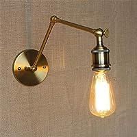 E27工業用レトロ金属壁照明器具人格鉄調節可能な角度長いスイングアームウォールランプリビングルームバーカフェレストランホテルコーン屋内壁照明取り付け用燭台