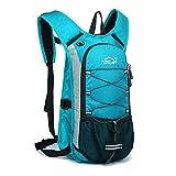 (アウトドアローカルライオン) OUTDOOR LOCAL LION ハイドレーションバッグ サイクリングバッグ ランニング 給水 マラソン 超軽量 自転車バックパック リュック 12L 5色選び (ライトブルー)