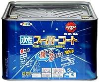 アサヒペン ペンキ 水性スーパーコート 水性多用途 黒 5L