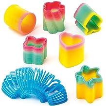 Baker Ross Mini Rainbow Effect Springs 6 Assorted Designs, Party Bag Filler for Boys & Girls, Children's Prizes (Pack of 6)