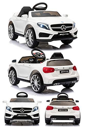 電動乗用カー 乗用ラジコン メルセデスベンツ GLA45 電動乗用ラジコンカー 乗用玩具 電動カー 車のおもちゃ 乗物玩具 (WHITE)