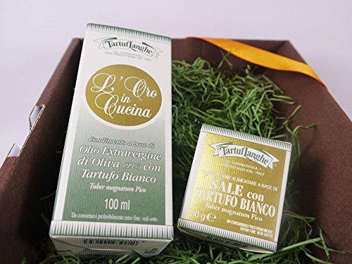 タルトゥフランゲ社 白トリュフオイル 白トリュフ塩 セット ギフトボックス付