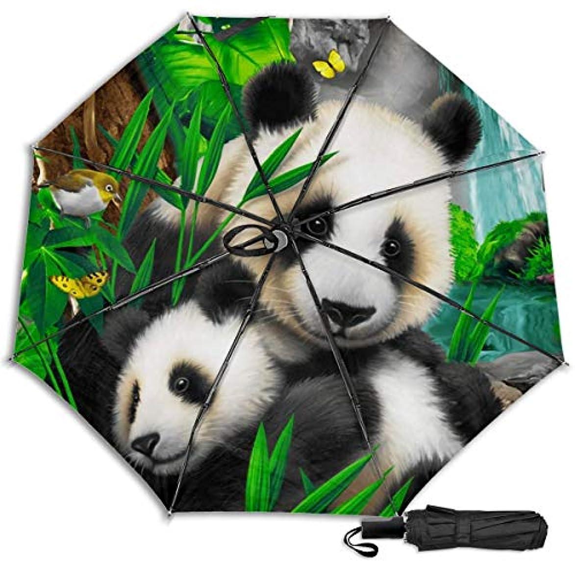 眠いです成り立つ霧プレシャスパンダ日傘 折りたたみ日傘 折り畳み日傘 超軽量 遮光率100% UVカット率99.9% UPF50+ 紫外線対策 遮熱効果 晴雨兼用 携帯便利 耐風撥水 手動 男女兼用